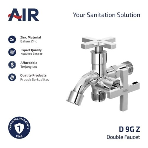Foto Produk AIR Kran Dobel Keran Air / Double Faucet D 9G Z dari AER Sanitary Indonesia