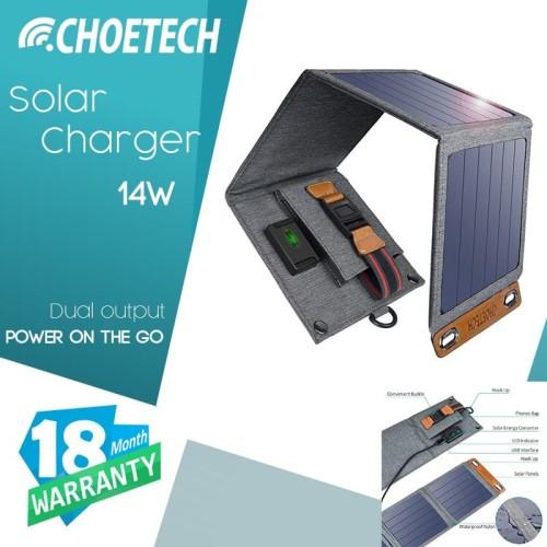Foto Produk CHOETECH 14W USB Foldable Solar Powered Charger - SC004 dari CHOETECH INDONESIA