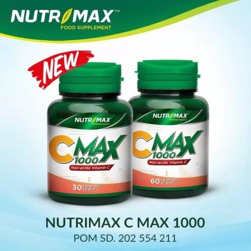 Foto Produk Nutrimax C MAX 1000 mg Vitamin CMAX Vit Imun Tablet Plus 1000mg Alami - Isi 30 Tablet dari Nutrimax Supplement