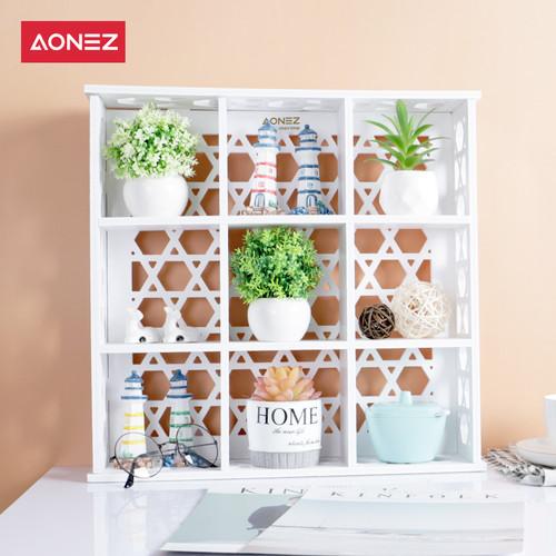 Foto Produk Aonez Rak PVC sembilan kisi yang tahan air dan anti air - 42cm dari AONEZ Official Store
