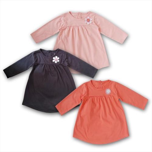 Foto Produk Bearhug Dress Bayi XDD Lengan Panjang Bunga 6-18M - Hitam, 6M dari Bearhug-Id