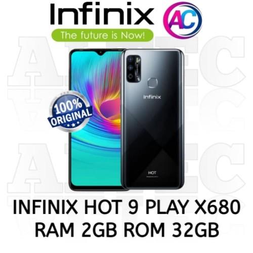 Foto Produk Infinix Hot 9 Play X680 2/32 RAM 2GB ROM 32GB GARANSI RESMI - BLACK dari Altec Cellular