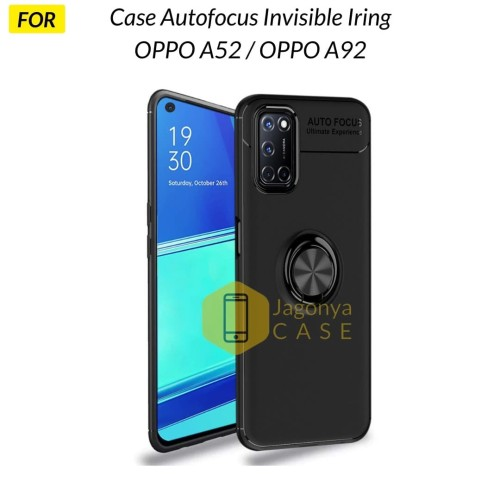 Foto Produk Case OPPO A52 / OPPO A92 Autofocus Invisible Iring Soft Case - Hitam dari Jagonya Case