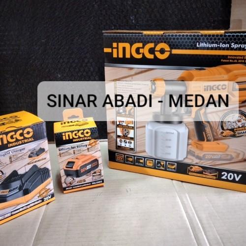 Foto Produk CSGLI2001 SPRAY GUN LISTRIK CORDLESS SEMPROTAN ANGIN CAT 20V 4AH INGCO dari Sinar Abadi Medan