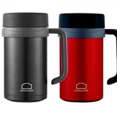 Foto Produk Lock n Lock Vacuum New Basic Table Mug Hot n Cool - Black - Merah dari CarissaChayra
