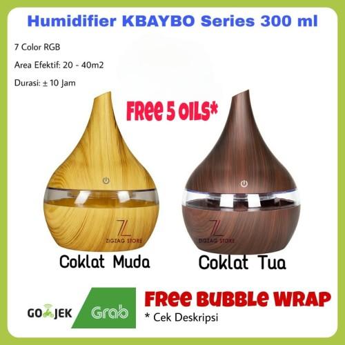 Foto Produk Air Humidifier KBAYBO Ultrasonic Humidifier Aromatherapy Wood Grain - CM No Oil dari ZigZag-Store