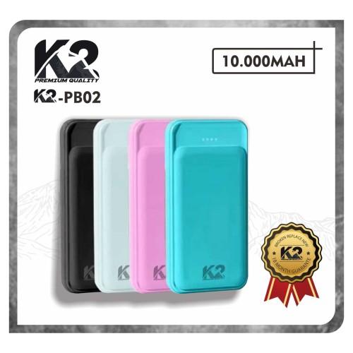 Foto Produk Powerbank K2-PB02 10000Mah K2 PREMIUM QUALITY Garansi Resmi 18Bln REAL - Putih dari K2 Official Store