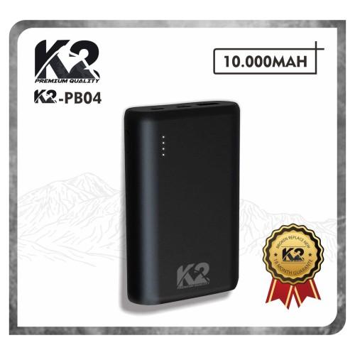 Foto Produk [GROSIR] Powerbank K2-PB04 K2 PREMIUM QUALITY 10000MAH Qualcomm 3.0 - Hitam dari K2 Official Store