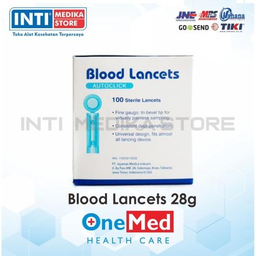 Foto Produk ONEMED - Blood Lancets 28G / Jarum Lancet 28G - 26 G dari INTI MEDIKA STORE