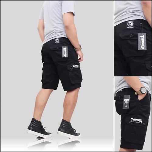 Foto Produk Celana Pendek Cargo Pants Pria Men Distro Premium Chino Murah - Hitam, 28 dari SCStore21