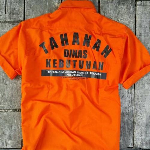 Foto Produk Kemeja TAHANAN Orange. Bobberroots Workshirt dari bobberrootsbdg