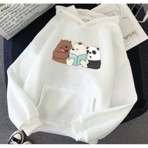 Foto Produk Vallenca Hoodie We Bare Bears Warna Putih - S dari VALLENCA OFFICIAL