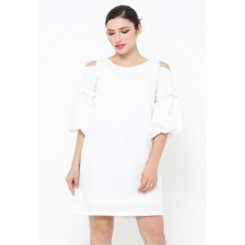 Foto Produk Ladura White Dress - S dari Voerin Official