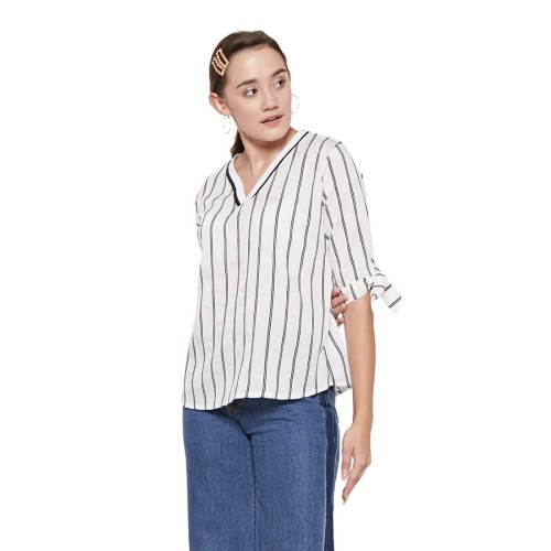 Foto Produk Mona Stripe White - all size dari Voerin Official