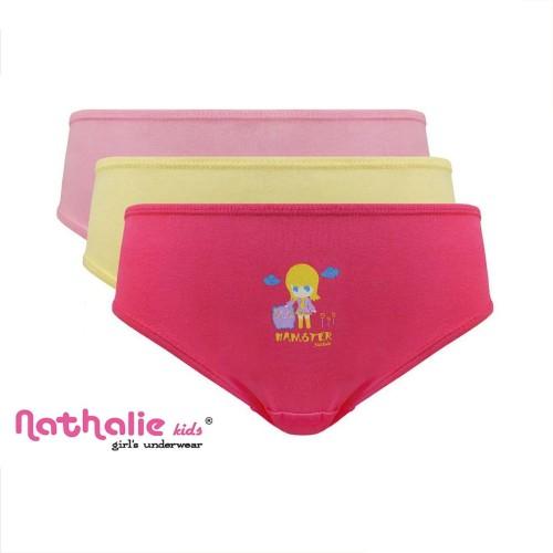 Foto Produk Isi 3 Pcs | Nathalie Kids | Celana Dalam Anak | Perempuan | NTK 0288 - XL dari Nathalie Kids