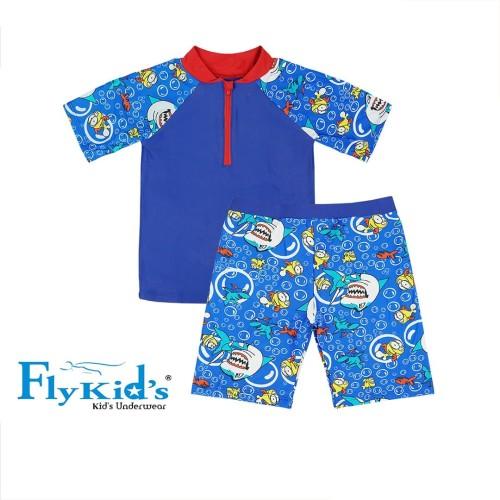Foto Produk FlyKids Setelan Pakaian Renang Anak Laki 1 Pack 1 set FKS 3220 - S dari Nathalie Kids