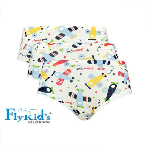 Foto Produk Fly Kids Briefs Plane Celana Dalam FK 3134 - MultiColour - M dari Nathalie Kids