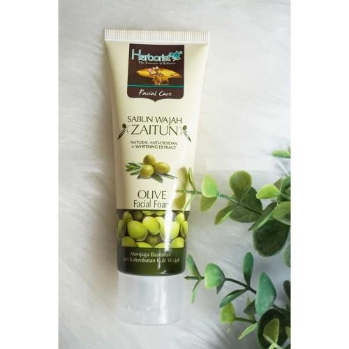 Foto Produk Herborist Olive Facial Foam 80Gr / Sabun Muka / Facial Wash / Sabun dari Orvin Health & Beauty