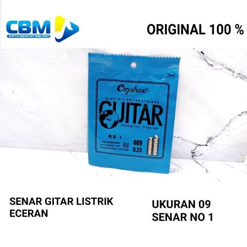 Foto Produk SENAR GITAR LISTRIK ORPHEE 09 NO 1 RX-1 ECER dari CBM Music & Sound Store