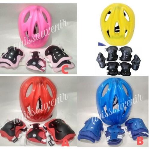 Foto Produk Helm sepeda/helm sepatu roda anak+deker pelindung dari unissouvenir