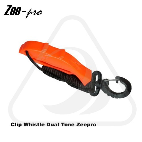 Foto Produk Peluit Diving Clip Whistle Dual Tone Zeepro Aksesoris Scuba Dive Selam - Orange dari Zeepro Bali