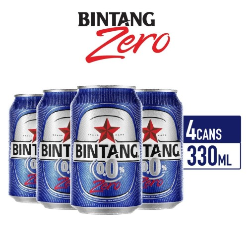 Foto Produk Bintang Zero 0% Soft Drink 330ml Can Multipack 4 dari Drink Corner Bekasi