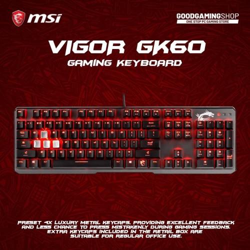 Foto Produk MSi Vigor GK60 - Gaming Keyboard dari GOODGAMINGM2M