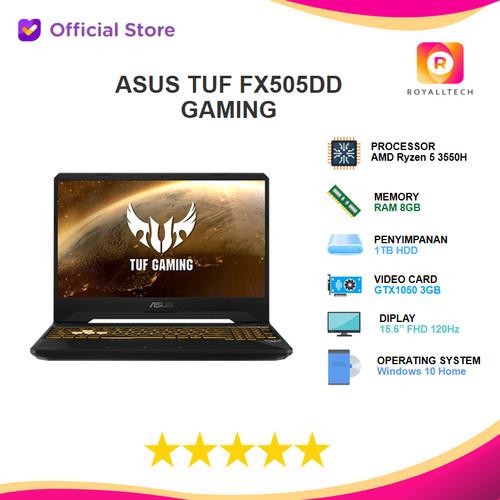 Foto Produk ASUS TUF FX505DD-R5597T Ryzen 5 3550H 8GB GTX1050 3GB 15,6 FHD 120hz - dari royalltech