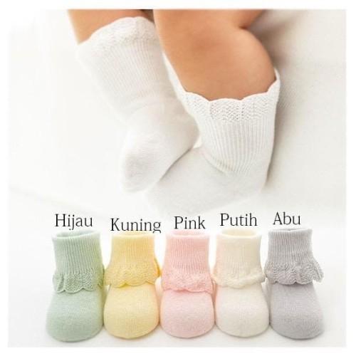 Foto Produk Kaos Kaki Bayi Motif Cantik - Kuning dari M&K ( Mom & Kids)