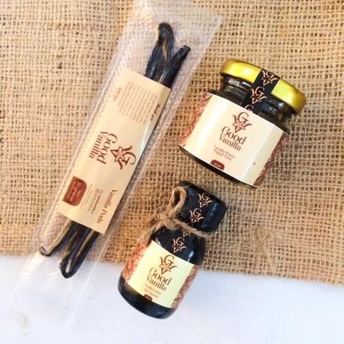 Foto Produk PROMO PAKET HEMAT Vanilla Beans+Paste+Extract dari Capofti Studio