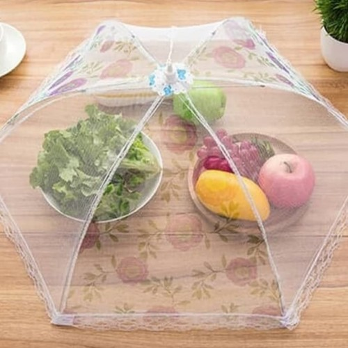 Foto Produk Tudung saji lipat jala jaring transparan anti lalat serangga dari mami sarah