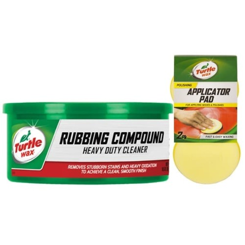 Foto Produk Turtle Wax [BUNDLE] RUBBING COMPOUND PASTA + APPLICATOR PADS dari Turtle Wax