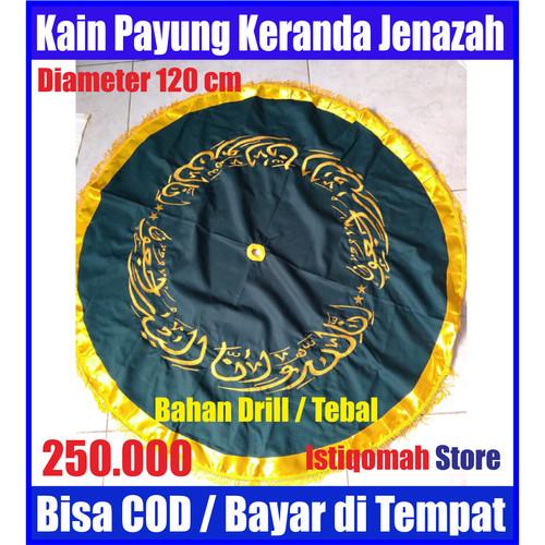 Foto Produk Kain Payung untuk Keranda Jenazah Warna Hijau Tua Bahan Drill Tebal dari Istiqomah-Store