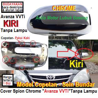 Foto Produk cover spion chrome model ori toyota avanza vvti sein bundar kiri - lh dari Aulia Motor Lubuk Basung