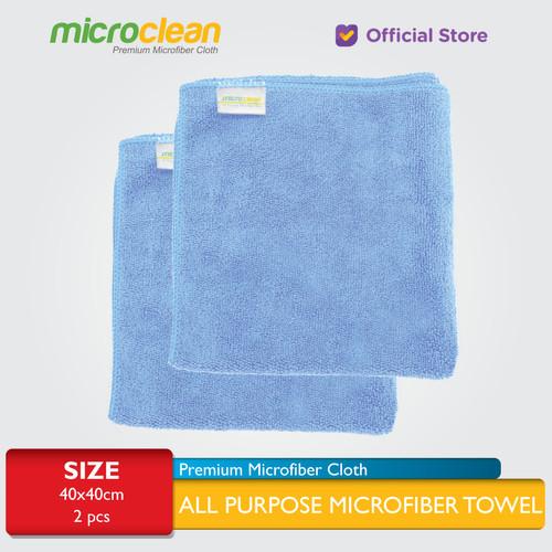 Foto Produk 2PCS MICROCLEAN Microfiber Cloth | Detailing Cloth 40x40cm Soft Blue dari Microfiber Indonesia