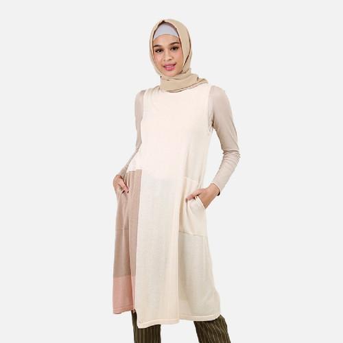 Foto Produk Queensland Dress Muslim Wanita Ranpa Lengan B10136Q Cream - S dari Queensland_Official