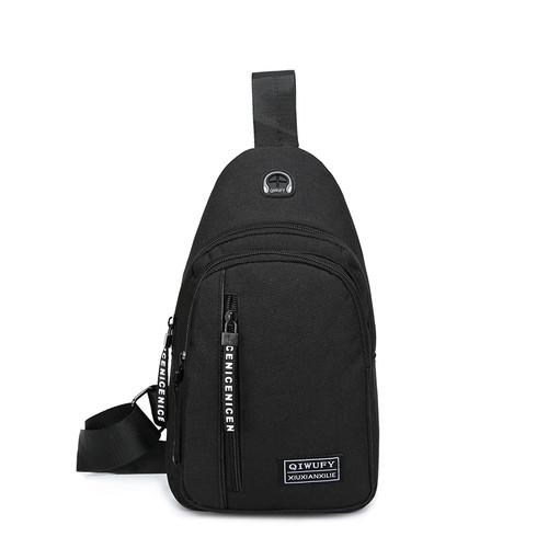 Foto Produk Freeknight Tas Selempang Pria Casual Kanvas Import Sling Bag TS408 - Hitam dari Freeknight