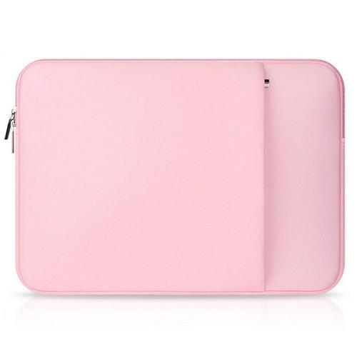 Foto Produk Tas Laptop Softcase Sleeve 14 inch Neoprene Zipper - Black - Merah Muda dari gudanggadget14