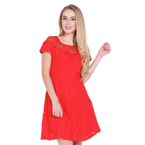 Foto Produk Leica Dress Merah - M dari Voerin Official