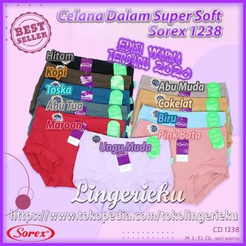 Foto Produk Grosir Celana Dalam Wanita Super Soft Merek Sorex 1238 Termurah - XL dari Lingerieku