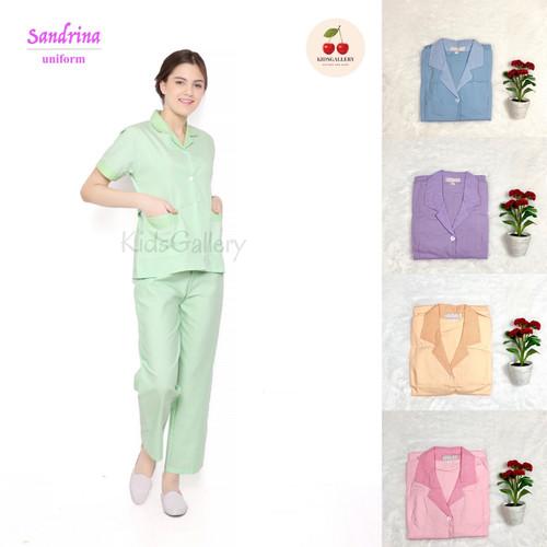 Foto Produk Baju seragam suster (cln pnjng) / seragam nanny/ seragam baby sitter - Biru Muda, S dari KidsGallery
