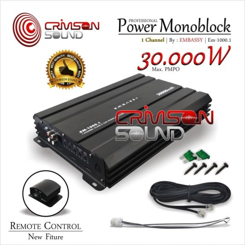Foto Produk POWER MONOBLOCK CLASS D EMBASSY EM-1000.1 Channel dari Crimson Sound