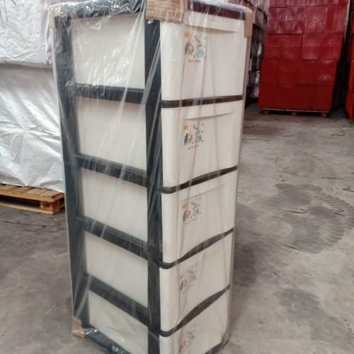 Foto Produk LACI 5 SUSUN / LEMARI SUSUN / KABINET PLASTIK / RAK PLASTIK - Hitam dari secretbasesby