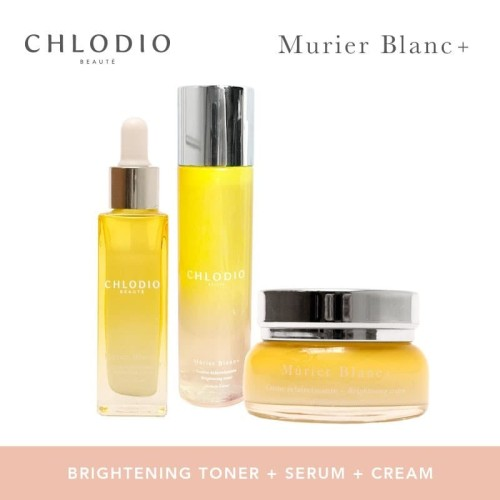 Foto Produk CHLODIO Beaute Brightening Nightime Routine Pack Toner-Serum-Cream dari Chlodio Beaute Official