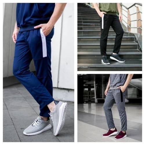 Foto Produk HALF TERRY celana panjang training baby terry - Biru, XL dari kayser official