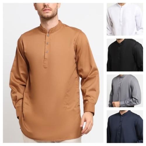 Foto Produk Almeer toyobo qurta kurta pakistan baju koko pria katun muslim - Biru, M dari kayser official