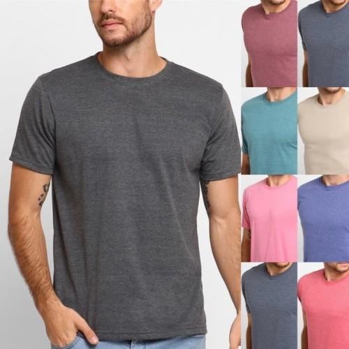 Foto Produk T5220 Kaos Tshirt Baju Combed 30S Distro Soft Reaktif Twotone Two Tone - Misty Navy, XL dari kayser official