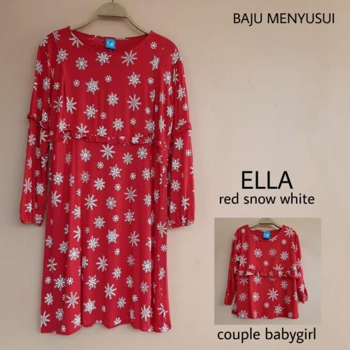 Foto Produk MAMIGAYA ELLA Dress Couple Baby Girl Baju Menyusui Couple dari ANINDHITA Clodishop