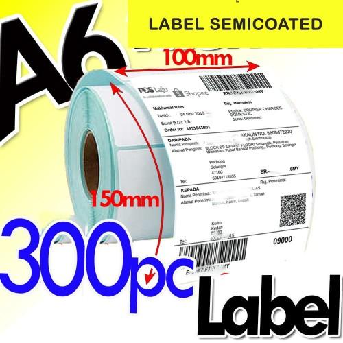 Foto Produk LABEL BARCODE 100 X 150 KERTAS STICKER SEMICOATED 100x150 mm (300pcs) dari Barcode Zone