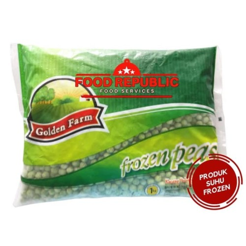 Foto Produk Golden Farm Green Peas / Kacang Polong 1 KG Frozen Halal Praktis Sehat dari Food Republic